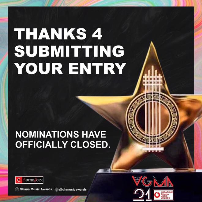 2020 Vodafone Ghana Music Awards nomination closed