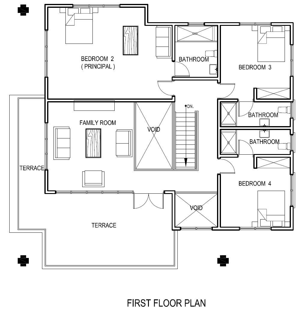 electrical plan for three bedroom flat