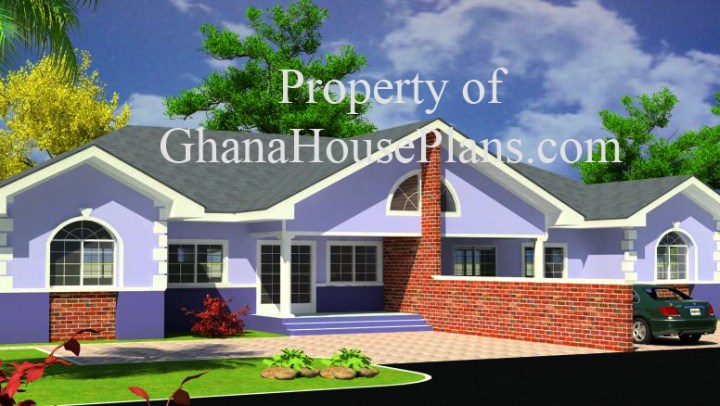 4 bedroom modern house plans in ghana for Modern building designs in ghana