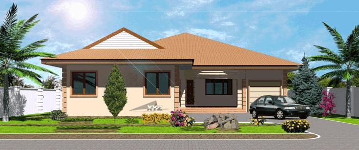 Ghana House Plans – Okyeame House Plan