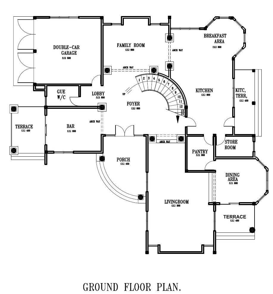 Building Floor Plans by Ghana House Plan for All Africa