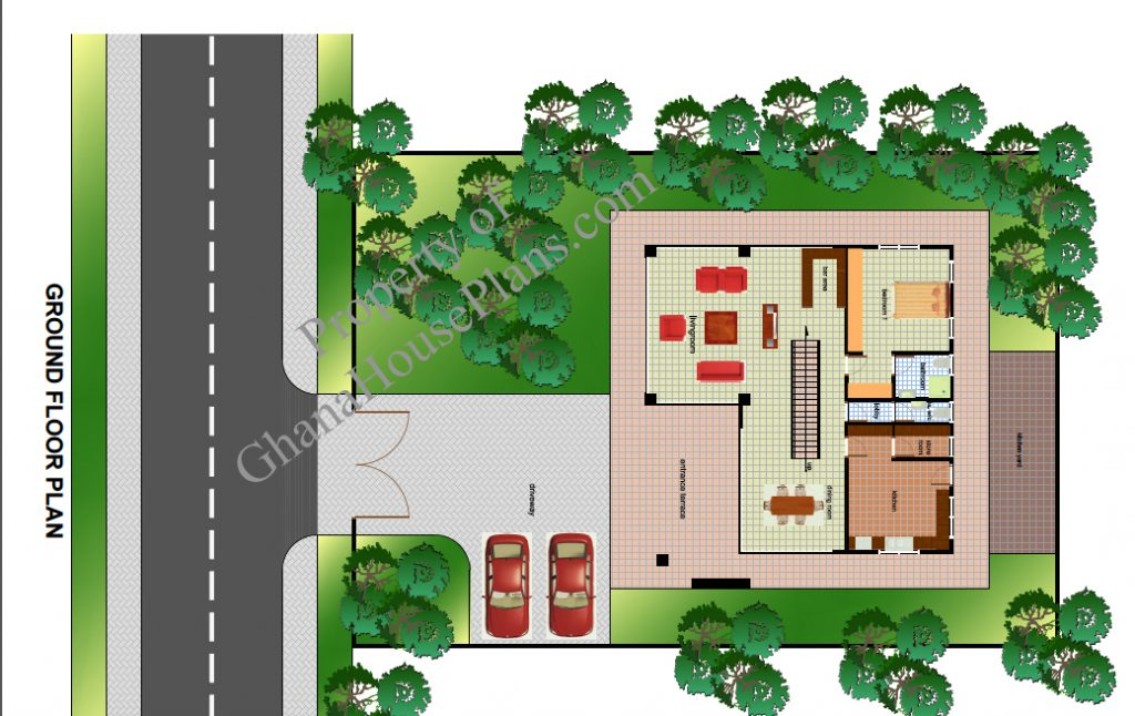Contemporary Home Plan For Cameroon All Africa Countries