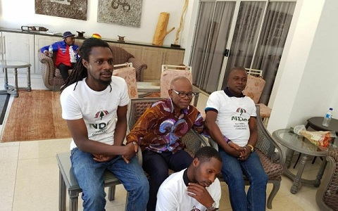 Ayisi-Boateng poses with 'NDC men'