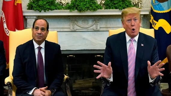 Trump hails 'Great President' Al-Sisi during White House meeting