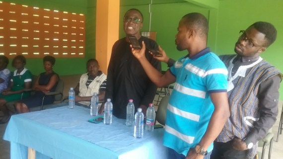 Ghana Health Service Governing Council Chairman present medical equipment to Twumkrom CHPs compound