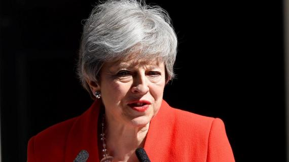 UK Prime Minister Theresa May resigns, to leave office on June 7