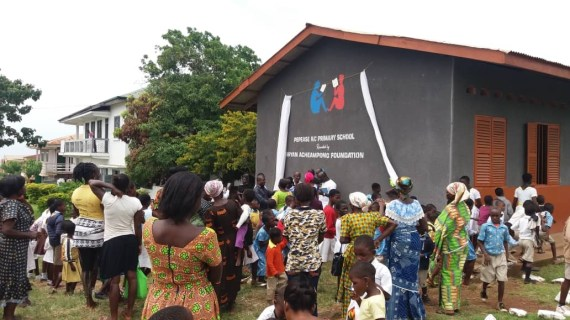 BAF Renovates 10 Unit Classroom Block In Kwahu East