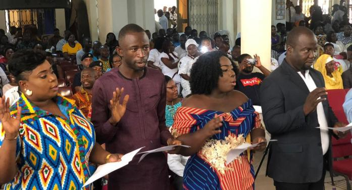 Hon. Oye Lithur Congratulates Newly Sworn-in Assembly and Unit Committee members