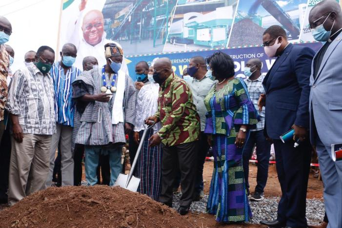 """Sod Cutting General"" At It Again in The Upper West Region…As Akufo-Addo Cut Sod for Waste Treatment Facility"