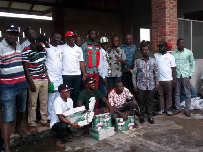 NDC MP Supports Four Constituencies With campaign logistics