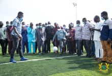 Prez Akufo-Addo ommissioned an astroturf facility for UPSA-Accra