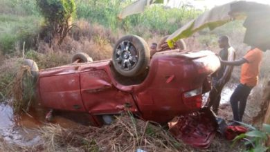Asunafo North YEA Dir, Survive An Accident And Advises Drivers & Passengers To Wear Seat Belts