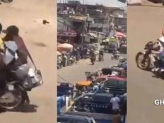 Watch Live Video: Daylight robbery in Kumasi: Gunshots fired, huge cash snatched as traders take cover