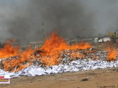 Photos: NDC witnesses burning of a huge excess ballot papers
