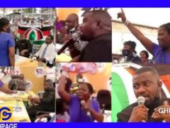 Lydia Alhassan and John Dumelo in a near fight at 3FM constituency debate