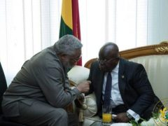 President Akufo-Addo announce the death of Former President Rawlings
