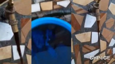 Shock as 'bloody substance' flows from tap in Ghana (VIDEO)