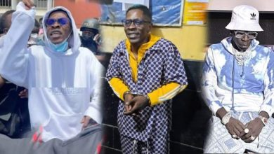 Shatta Wale Shivers with Fear As Prisoners Loudly Hoot At Him In Jail – Video