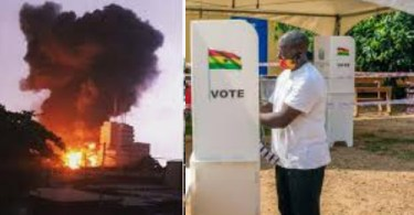 Smoke Mysteriously Comes Out From A Balot Box After Last Voter Cast Vote
