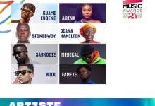"Full List Of "" 3Music Awards"" Nominees And Their Various Categories"