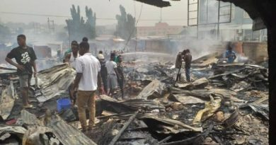 Kiosks, other properties burnt to ashes at Achimota