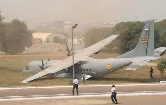 Ghana Air Force aircraft overruns apron during engine check
