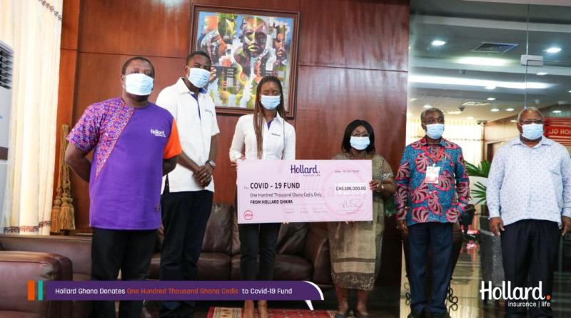 Hollard Ghana supports Covid-19 Fund with 100k