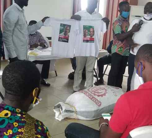 Ellembele grateful to Engineer PINTO for 500 NDC T-Shirts - An Owula Mangortey observation