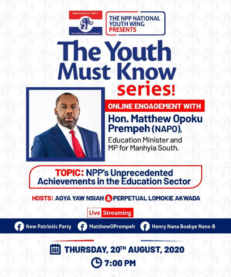 Napo to Speak on NPP's Unprecedented Achievements in Education Sector