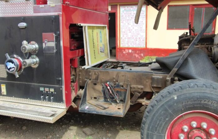 E/R: The only Fire Tender in Koforidua broken down for two years