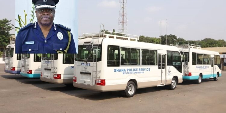 Police personnel heap praises on IGP for procuring historic 18 brand new welfare buses