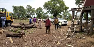 Residents of Yipala/Nabori close down Chinese Rosewood Company