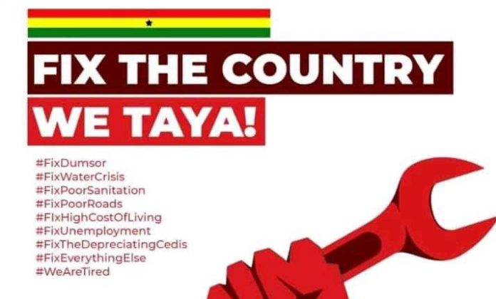 "#FixTheCountry: Agitated Ghanaians to Protest against ""Economic Hardship"" under Akufo-Addo"