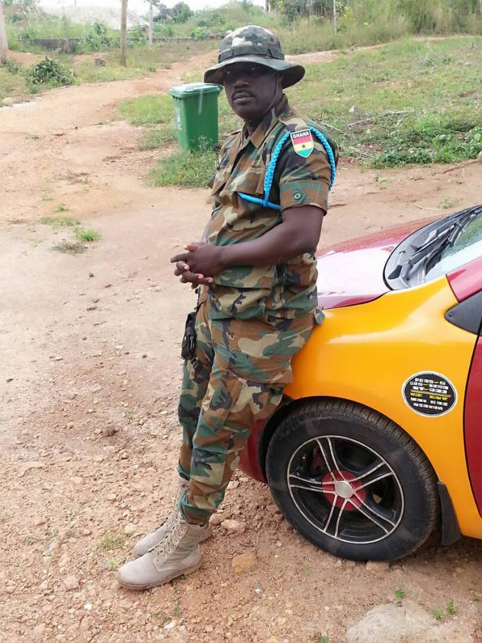 PHOTOS: Fake Soldier arrested in Nsawam