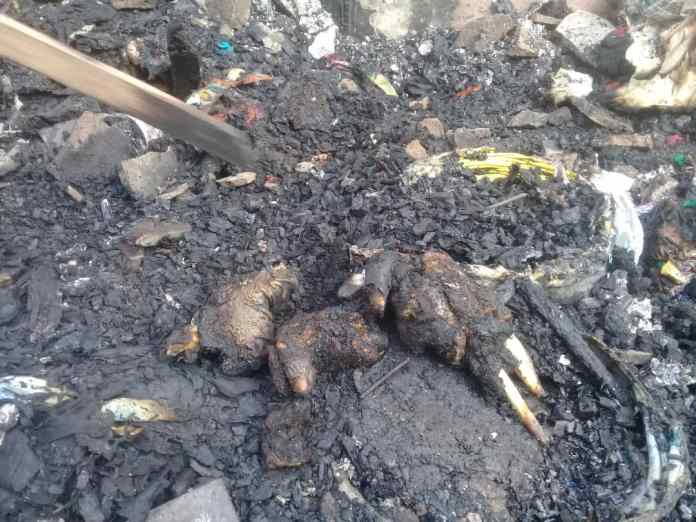 4 Kids burnt to death as fire guts 4-bedroom house in Amasaman 1