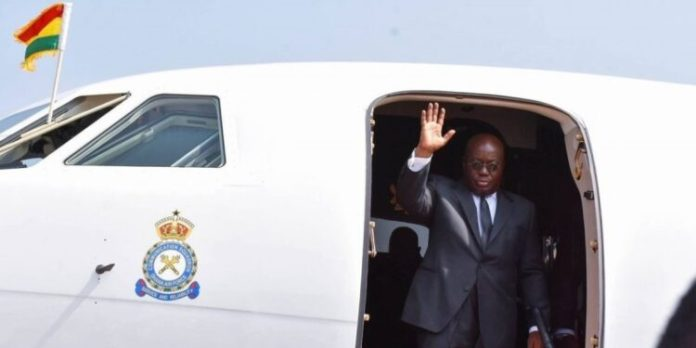 Akufo-Addo BLOWS GHC2.8m on private jet to Paris, Johannesburg