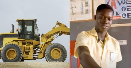 VIDEO: Student of Takoradi Technical Institute builds Africa's 1st excavator that uses water as fuel