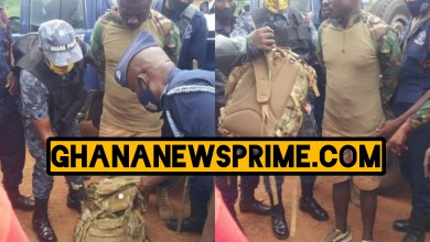 Fake SOLDIER busted at a registration centre at Nkrankwanta in the Dormaa West District.