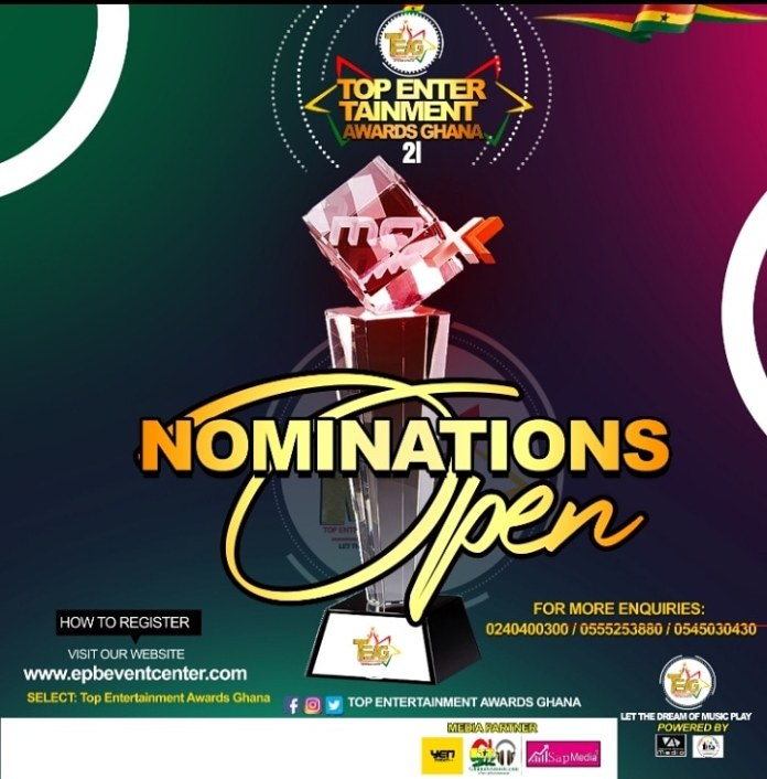 TOP ENTERTAINMENT AWARDS GHANA