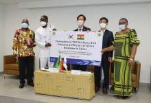 The Government Of The Republic Of Korea Donates Four PCR Machines, PPEs To Ghana