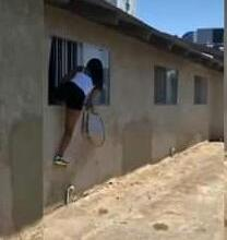 Side Chick Escapes Via Window After The main Wife Knocked The Door