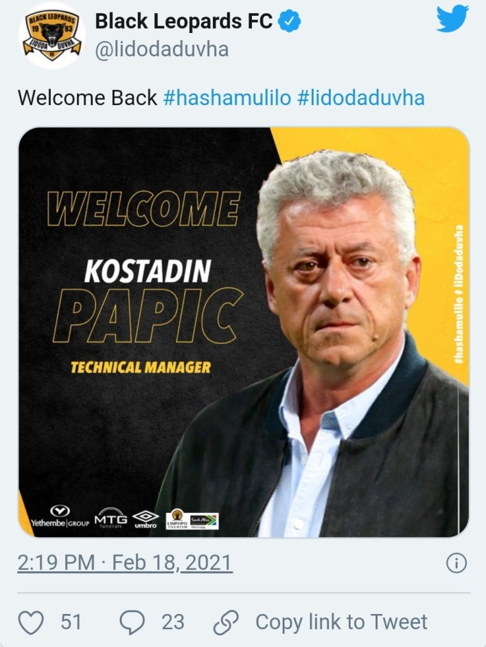 Former Hearts of Oak coach, Kosta Papic Joins South African Side As Technical Director