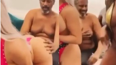 Old Man Collapses As 3 Slay Queen Tw3rk Infront Of Him (Video)