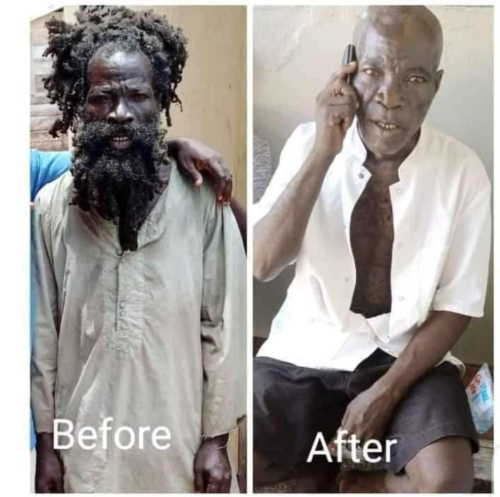 Popular 'Mo Na Mo Blɛ' New Look As He Shaves His Rasta (Photo)