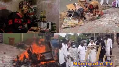 Nana Agradaa burns all her sika gari gods to demonstrate her acceptance of Jesus Christ (Video)
