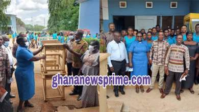 Dormass '91 Year Group donates mono-desks to Dormaa SHS