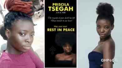 Priscilla Tsegah wasn't a lesbian, family react to rumour