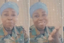 Ghanaian female soldier searches for love on social media (Watch Video)