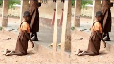 Sad story: 9-year-old girl who crawls 1.5 kilometres to school everyday needs help