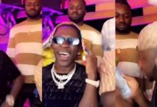 Money is sweet, see how Shatta Wale and Medikal spray cash on each other at a party (Video)